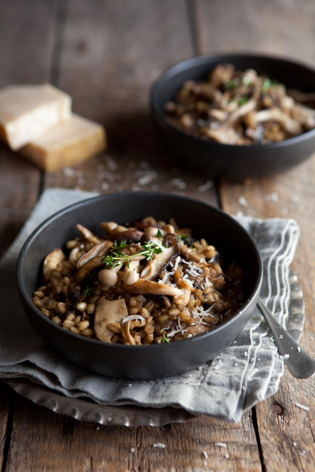 Sam Linsells Mushroom And Barley Risotto